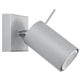Regulowany kinkiet Ring szary Lampy ścienne | Kinkiety kinkiet metalowy