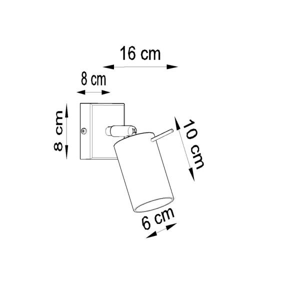 Regulowany kinkiet Ring szary Lampy ścienne   Kinkiety kinkiet metalowy
