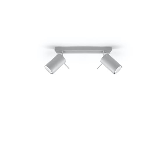 Lampa Sufitowa Plafon RING 2L szary Sufitowe | Plafony lampa spot