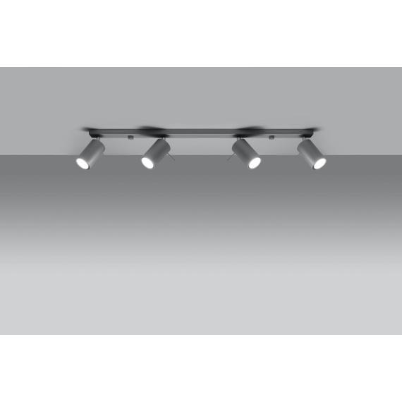 Lampa Sufitowa Spot Plafon RING 4L szary Sufitowe   Plafony lampa spot