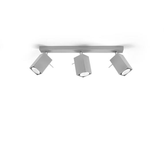 Regulowany plafon Merida 3 Szary Sufitowe | Plafony lampa do salonu