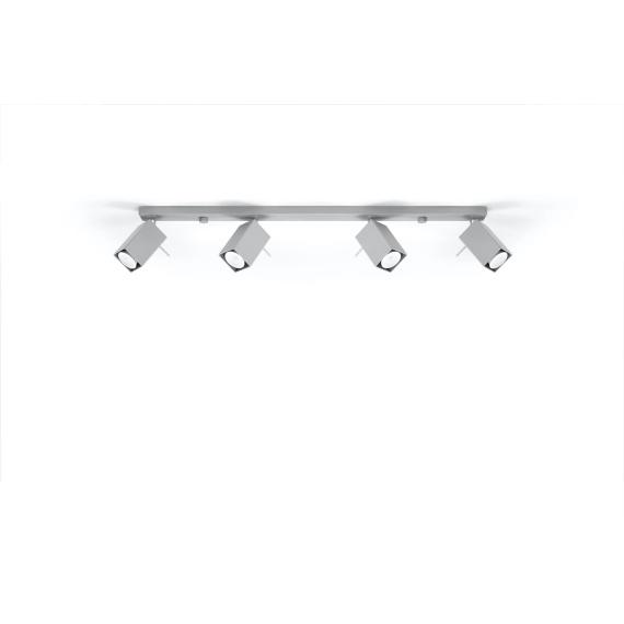Regulowany plafon Merida 4L Szary Sufitowe | Plafony lampa do salonu