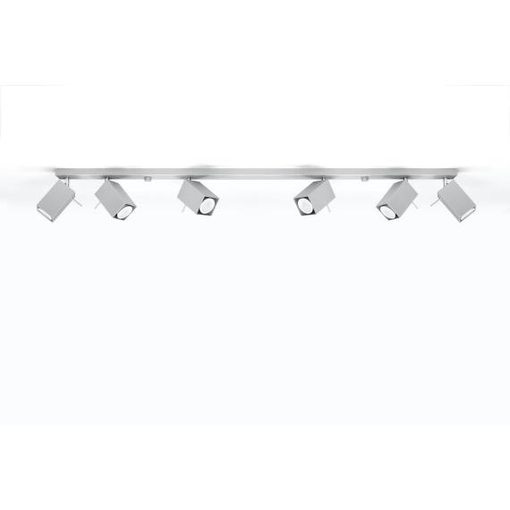 Regulowany plafon Merida 6L Szary Sufitowe | Plafony lampa do salonu
