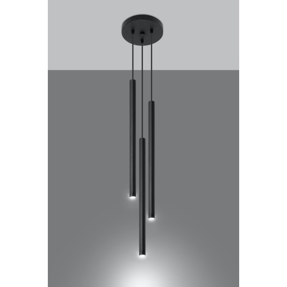 Lampa Sufitowa 3 tuby PASTELO 3P Wiszące | Żyrandole lampa do salonu
