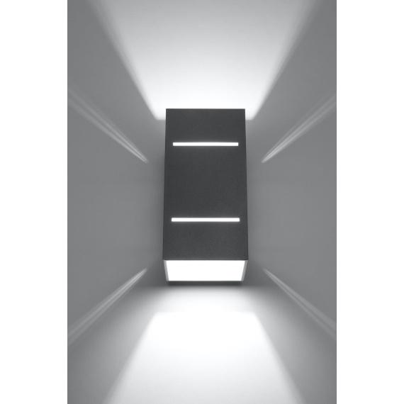 Kinkiet BLOCCO Szary Oświetlenie