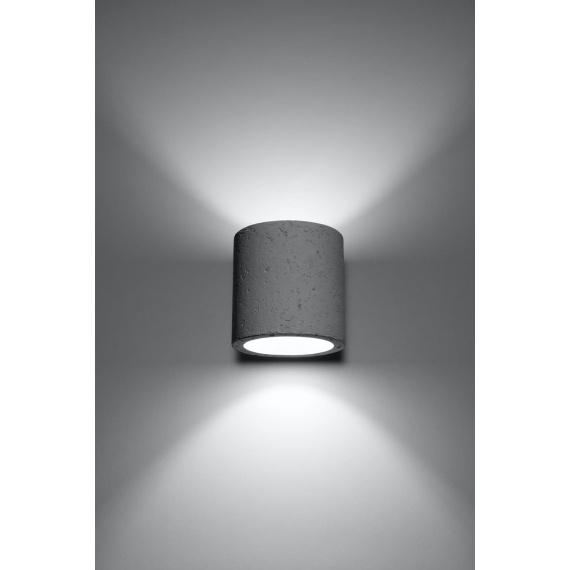 Nowoczesny kinkiet z betonu Orbis Lampy ścienne | Kinkiety kinkiet tuba