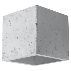 Nowoczesny kinkiet z betonu Quad Lampy ścienne | Kinkiety kinkiet tuba