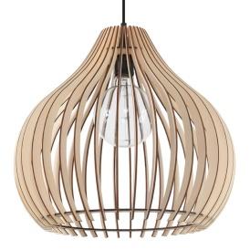 Lampa Wisząca APRILLA Sufitowe | Plafony drewniana lampa