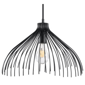Lampa wisząca UMB Oświetlenie czarna lampa druciana