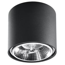 Plafon TIUBE Oświetlenie czarna lampa sufitowa