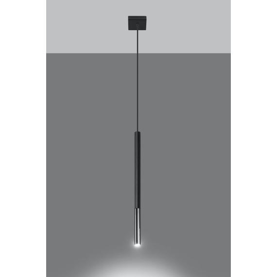 Lampa wisząca MOZAICA 1 czarny/chrom Oświetlenie
