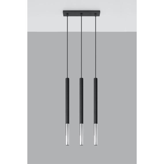 Lampa wisząca MOZAICA 3L czarny/chrom Oświetlenie