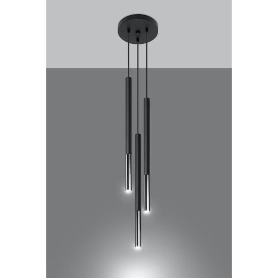 Lampa wisząca MOZAICA 3P czarny/chrom Oświetlenie