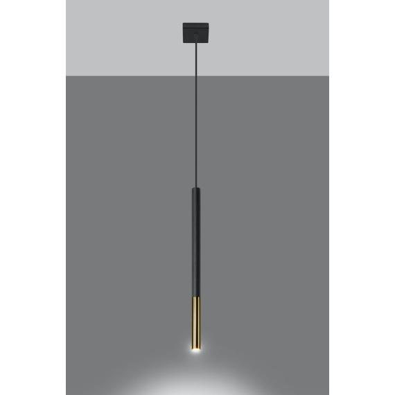 Lampa wisząca MOZAICA 1 czarny/złoto Oświetlenie