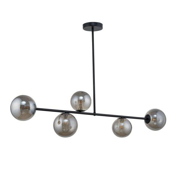 Nowoczesna lampa wisząca wielopunktowa nad stół klosze szklane dymione Roma 5