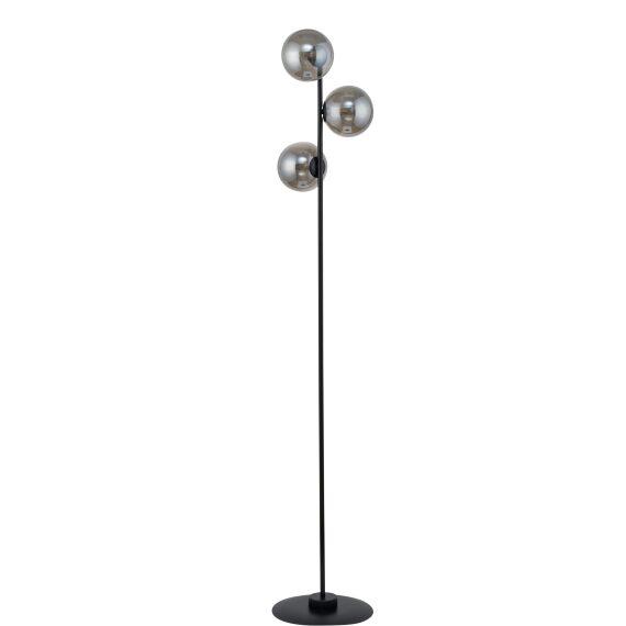 Lampa podłogowa Roma kolor szary dymiony szklane klosze
