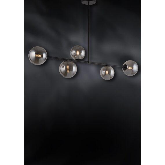 Lampa nad stół z szklanymi kloszami dymiona Roma 5