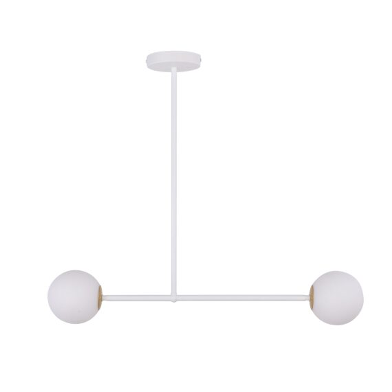 Lampa wisząca kula Gama 2 kolor biały